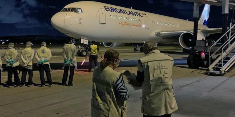 O voo de repatriação foi inspecionado pela Anvisa