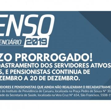 Censo previdenciário de Caruaru tem data prorrogada