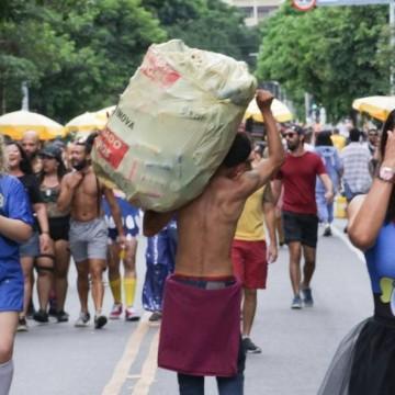 No carnaval, catadores de materiais recicláveis vão receber diárias
