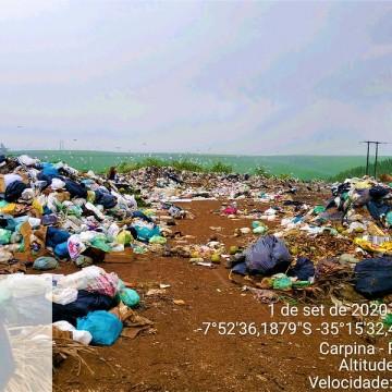 MPPE ajuíza ação para obrigar município de Carpina a dar destinação adequada aos resíduos sólidos