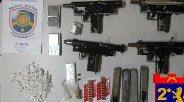 Homem  é preso com quatro metralhadoras em Paudalho