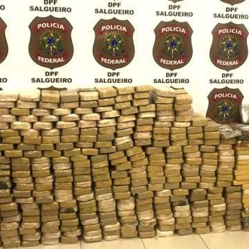 No sertão pernambucano, Polícia Federal apreende mais de 500 kg de cocaína