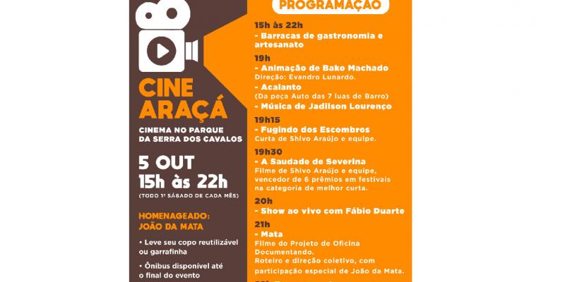 O projeto da prefeitura municipal une cinema, gastronomia e artesanato