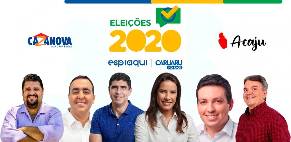 Confira a agenda desta quarta (7) dos candidatos à prefeitura de Caruaru