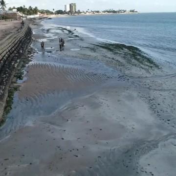 Manchas de óleo chegam em Itamaracá e outra praia de Paulista