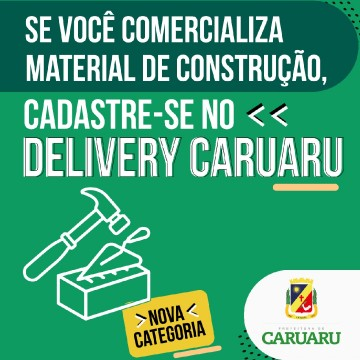 Delivery Caruaru agora disponibiliza cadastros para novas categorias