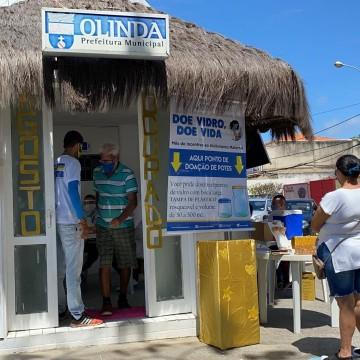 Secretaria de Saúde de Olinda instala ponto de vacinação contra a poliomielite