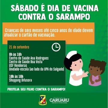 Caruaru realiza mais uma atualização do cartão vacinal de crianças neste sábado (21)