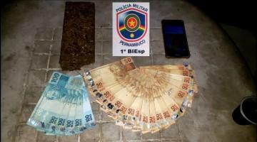 Homem é detido com apoximadamente 1 kg de maconha em Caruaru