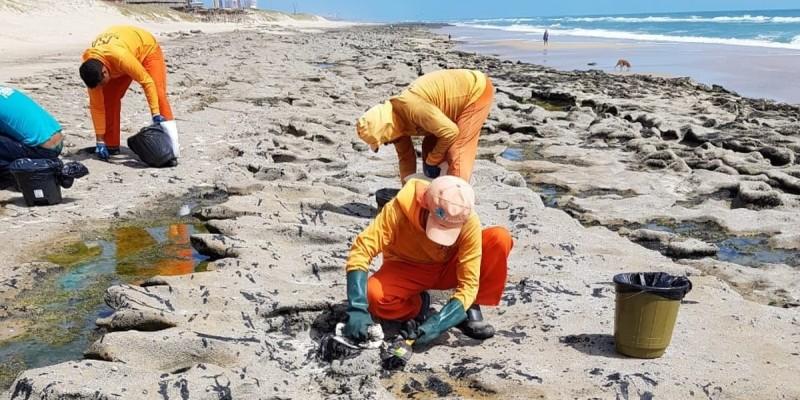 Também foram coletados 600 quilos do material em alto mar e instalados 450 metros de barreiras de contenção