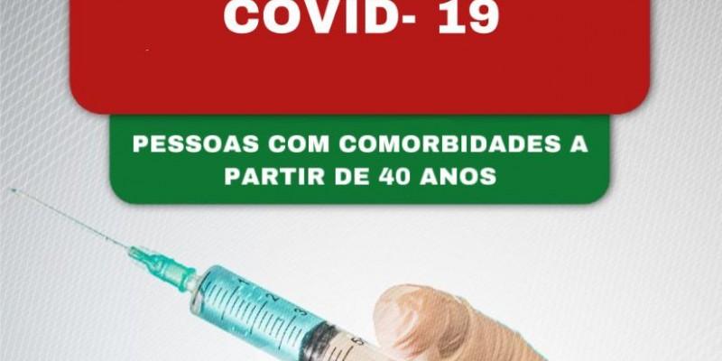 A imunização do grupo 1 de comorbidades na faixa etária de 18 a 59 anos e idosos, continua acontecendo em todos os PSFs