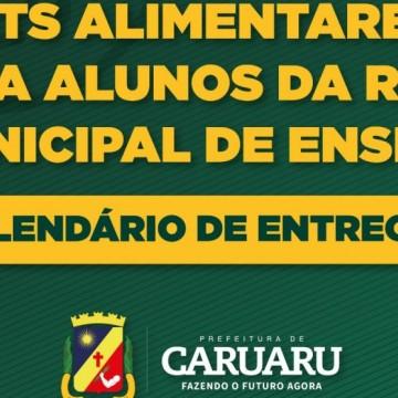 Prefeitura de Caruaru divulga datas da distribuição dos kits alimentares para os estudantes da rede municipal de ensino