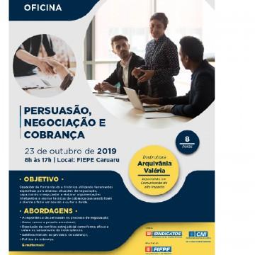 Unidade Regional Agreste da FIEPE, em Caruaru, oferece que prepara profissionais para persuasão, negociação e cobrança de alta performance