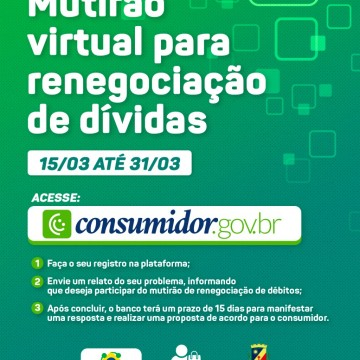 Procon Caruaru promove mutirão virtual para renegociação de dívidas