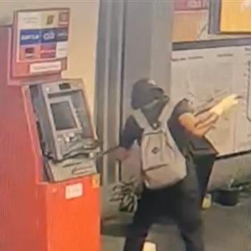 Caixa eletrônico é alvo de bandido na Estação Santa Luzia