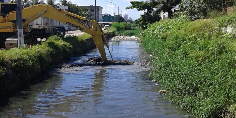 A intervenção prevê serviços de drenagem, limpeza e o alargamento do Canal