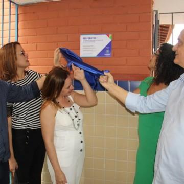 Telecentro é inaugurado em Escola de Referência em Ensino Médio (EREM) Desembargador Renato Fonseca, no bairro de Jardim Brasil, Olinda