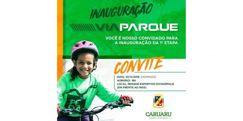 A inauguração será realizada no Parque Esportivo Divinópolis em Caruaru