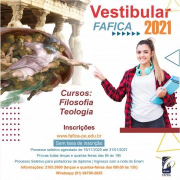 Fafica Abre Inscrição Para Vestibular 2021