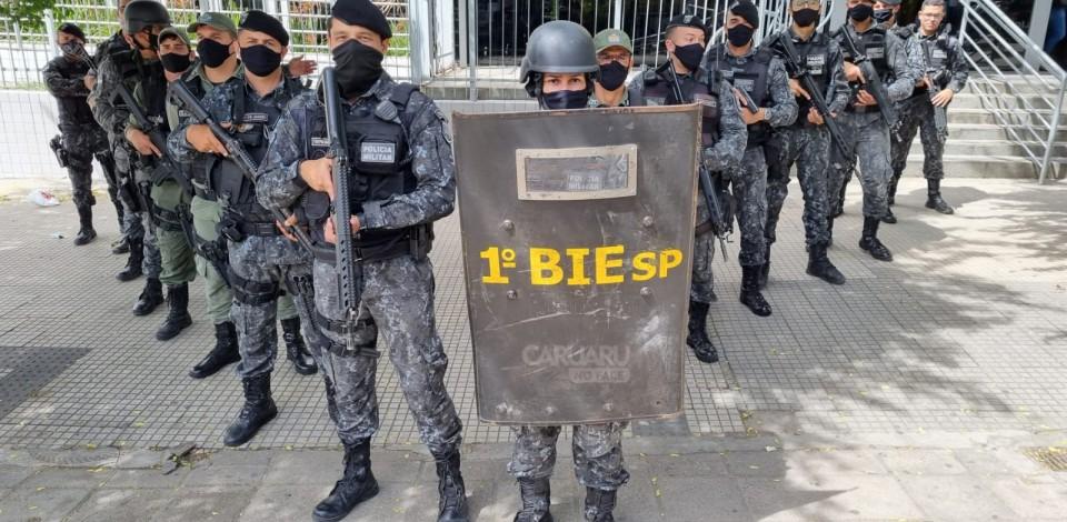 Alarme do Banco do Brasil dispara e polícia faz varredura no local