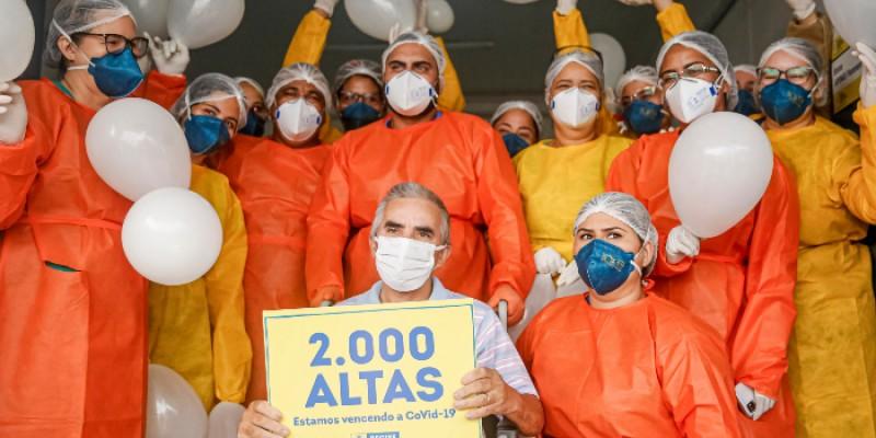 De acordo com a prefeitura da capital, os hospitais provisórios já atenderam 12 mil pacientes