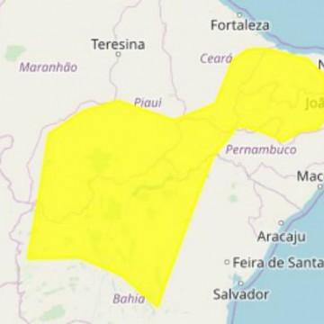 Inmet emite alerta de chuvas intensas em mais de 30 cidades de Pernambuco