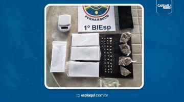 Homem é detido com drogas no bairro Cidade Jardim, em Caruaru
