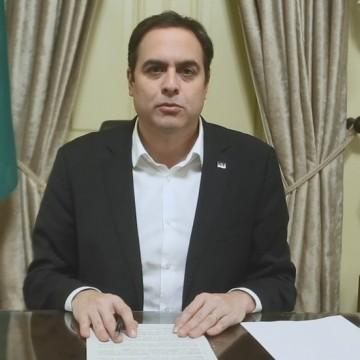 Mesmo com Covid-19 Governador Paulo Câmara continuará trabalhando