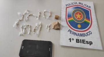 Pedras de crack são apreendidas pela PM em Caruaru