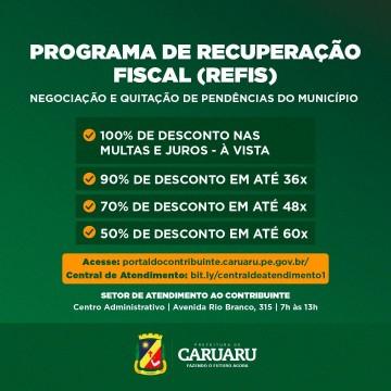 Prefeitura de Caruaru segue realizando campanha para regularização de débitos