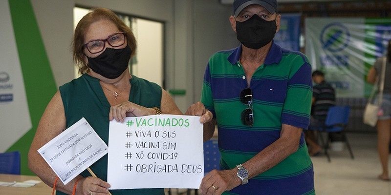 A imunização acontece desde o dia 18 de janeiro