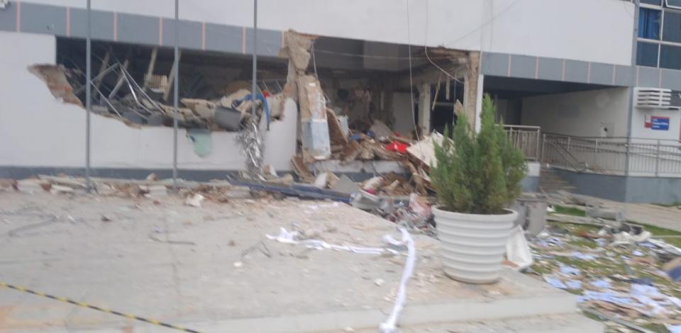 Posto de atendimento da Caixa é alvo de explosão em Betânia