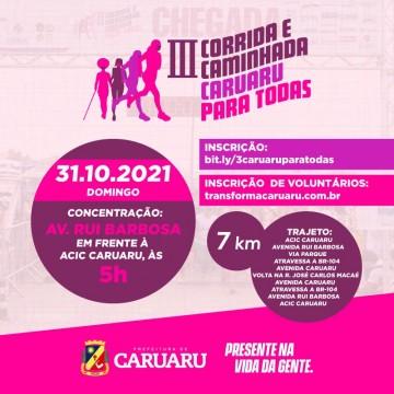 Secretaria de Políticas para Mulheres promove III Corrida e Caminhada Caruaru para Todas
