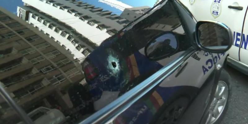 Durante a tentativa houve troca de tiros entre assaltantes e policiais militares