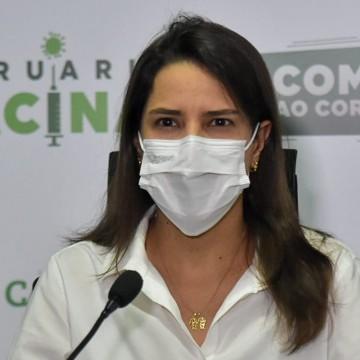 Raquel Lyra cobra do governo estadual igualdade na vacinação entre os municípios