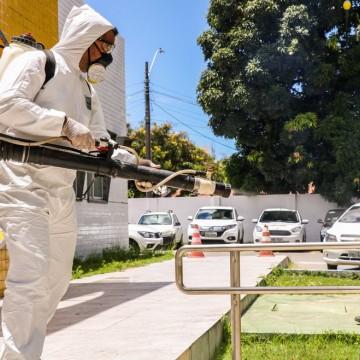 Visitas para desinfecções estão sendo feitas no Recife