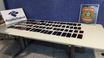 Mala com 79 celulares sem documentação fiscal é apreendida pela PF no Aeroporto do Recife