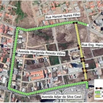 Rua Engenheiro Marcelo Monteiro, em Caruaru, é interditada para obras da Adutora do Agreste