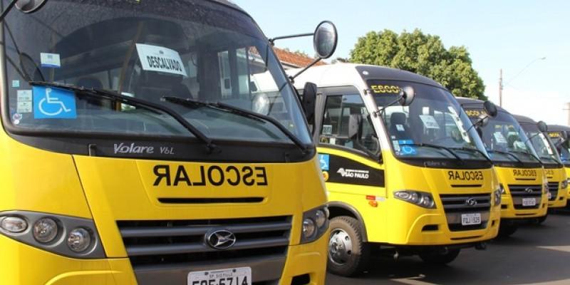 A frota oficial de transporte escolar é de 1.317 veículos