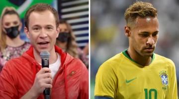 Tiago Leifert 'brinca' de Faustão e bate Copa América