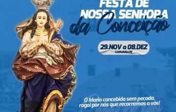 Festa de Nossa Senhora da Conceição segue até o dia 08 de dezembro