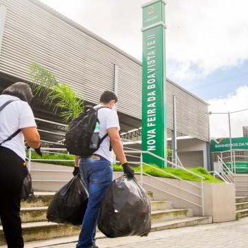 Ação de coleta de resíduos sólidos recolheu mais de 110 quilos de resíduos sólidos em Caruaru