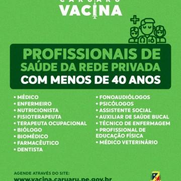 Prefeitura de Caruaru amplia vacinação contra a Covid-19 para novos grupos