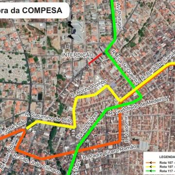 Rua Cônego Júlio Cabral será interditada nesta terça-feira