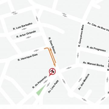 CTTU implanta sentido duplo em trecho da Rua Dom Bosco