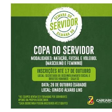 1° Copa do Servidor Municipal Será realizada em Caruaru