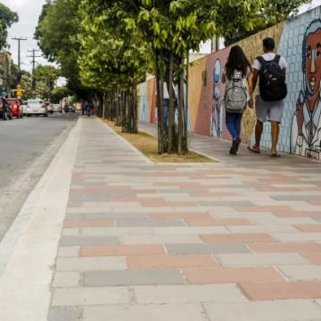 Rua do Príncipe está na fase de conclusão do Projeto Calçada Legal