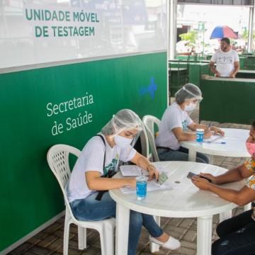 Em uma semana, unidade móvel de testagem realiza cerca de 450 testes em Caruaru