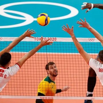 Olimpíada: Brasil passa pela Tunísia na estreia do vôlei masculino