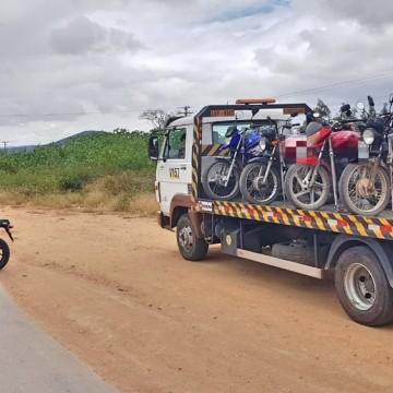 Polícia Rodoviária Federal e Polícia Civil recolhem 62 veículos em Pesqueira
